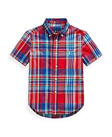 Toddler Boys Plaid Poplin Shirt
