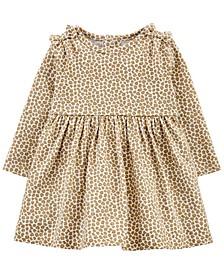 Baby Girls Leopard Print Jersey Dress