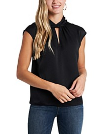 Women's Twist Neck Blouse