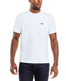 Men's Embroidered Animal-Print Croc Logo T-Shirt