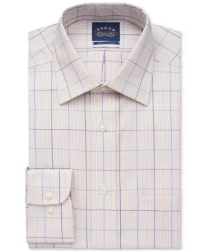 Men's Big & Tall Fit Non-Iron Stretch-Collar Check Dress Shirt
