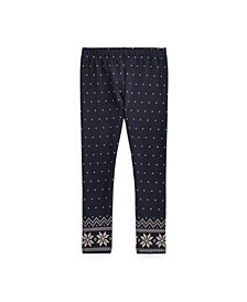 Little Girls Polka-Dot Stretch Jersey Legging