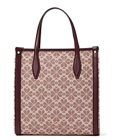 Spade Flower Coated Canvas Medium North South Tote