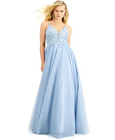 Juniors' Embellished-Top Gown, Created for Macy's