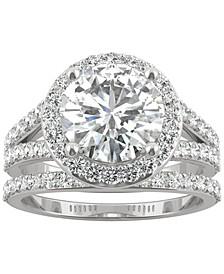Moissanite Bridal Set (3-5/8 ct. t.w. Diamond Equivalent) in 14k White Gold