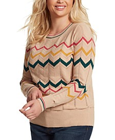 Trendy Plus Size Marcelina Striped Sweater
