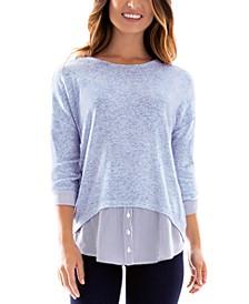 Juniors' Layered-Look Sweater
