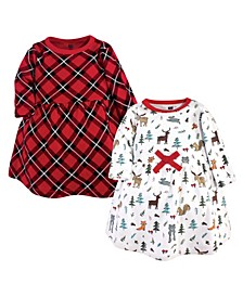 Girl Cotton Dresses, Pack of 2