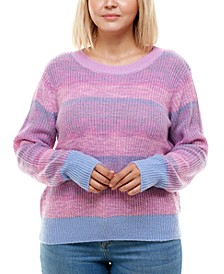 Trendy Plus Size Brushed Space-Dyed Sweater