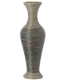Artificial Rattan Weaved Wire Design Tabletop Accent Decorative Vase