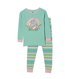 Little Girls Lila Long Sleeve Pajama Set