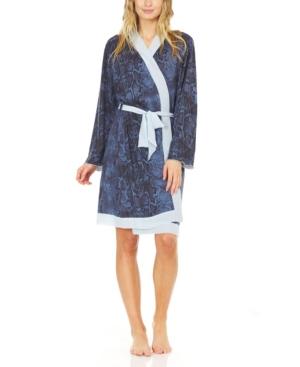 Women's Hacci Cozy Robe with Contrast Chiffon Detail