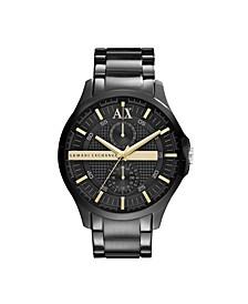 AX Men's Black Stainless Steel Bracelet Watch 46mm