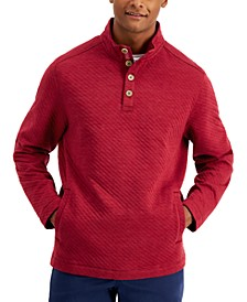 Men's Quilted Crest Mock-Neck Shirt