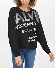 Sequin-Embellished Logo-Graphic Sweatshirt
