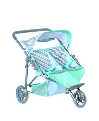 Zig Zag Twin Jogger Doll Stroller
