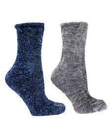 Women's Velvet Soft Fuzzy Aroma Sole Slipper Socks, 5 Piece