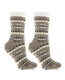 Women's Non-Skid Warm Soft and Fuzzy Double Layer Slipper Socks