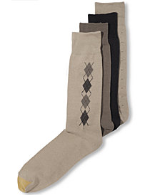 Gold Toe Men's Socks, 4 Pack Clocking Dress Men's Socks, Created for Macy's