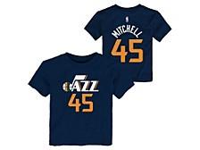 Toddler Utah Jazz Replica Name and Number T-Shirt