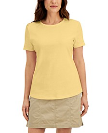 Cotton Short-Sleeve Crewneck Top, Created for Macy's
