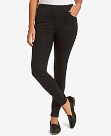Petite Avery Pull-On Slim-Leg Pants