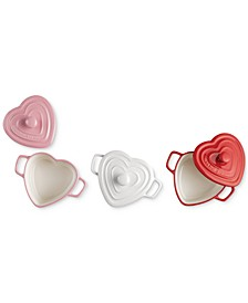 Small Heart Stoneware Cocottes, Set of 3, Created for Macy's
