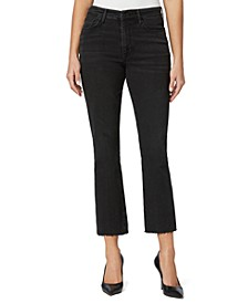 High-Rise Cropped Bootcut Jeans