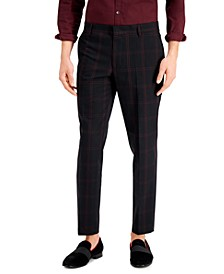 INC Men's Eli Slim-Fit Plaid Pants, Created for Macy's