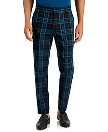 INC Men's Adam Slim-Fit Plaid Pants, Created for Macy's