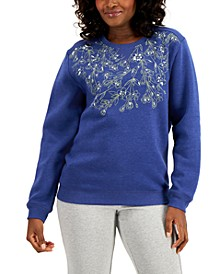 Necklace Bloom Fleece Top, Created for Macy's