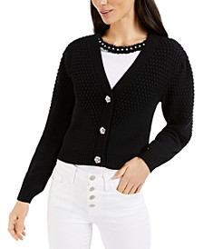 Mixed-Texture Cardigan, Created for Macy's