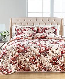 Gilded Floral Velvet King/Cal King Quilt, Created for Macy's