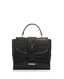 Ingrid Black Leif Leather Satchel