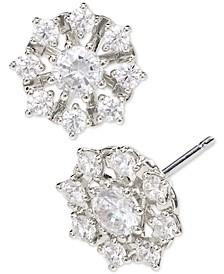 Cubic Zirconia Snowflake Stud Earrings, Created for Macy's