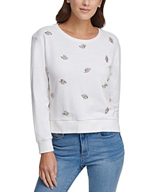 Jewel-Embellished French Terry Sweatshirt