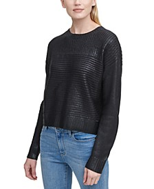 Ribbed Metallic Sweater
