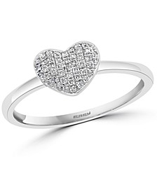 EFFY® Diamond Pavé Heart Promise Ring (1/8 ct. t.w.) in Sterling Silver