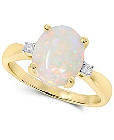 Opal (1-3/4 ct. t.w.) & Diamond Accent Ring in 14k Gold
