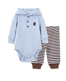Baby Boys Bear Bodysuit Pant Set