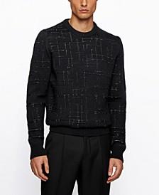 BOSS Men's Dimondo Jacquard-Knitted Sweater