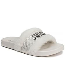 Women's Steady Faux Fur Sandal Slide