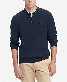 Tommy Hilfiger Men's Regular-Fit Textured Sweater-Knit Polo Shirt