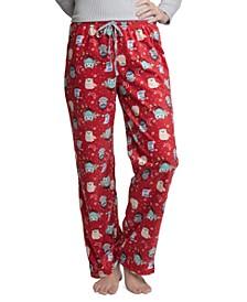 Women's Printed Fleece Pajama Pants