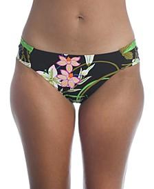 Moonlit Lotus Hipster Bikini Bottoms