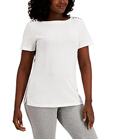 Ring-Trim Top, Created for Macy's