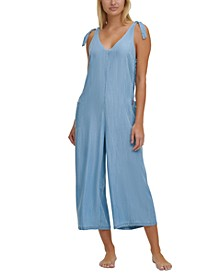 Chambray Jumpsuit Cover-Up