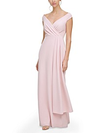 Off-The-Shoulder Side-Drape Gown