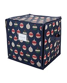 Print Design 64 Count Stackable Christmas Ornament Storage Box