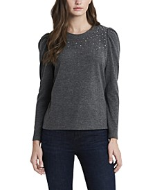 Women's Studded Crewneck Top